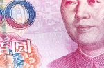 Cropped Macro Close-up of Chinese RMB 100 Yuan Banknote